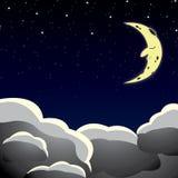 Karikaturartnächtlicher himmel Stockfoto