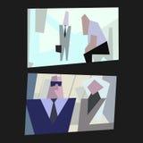 Karikaturbüroleben Stockfotos