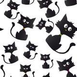 Karikaturbeispielhintergrund der schwarzen Katze stock abbildung