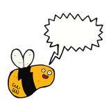 Karikaturbiene mit Spracheblase Lizenzfreie Stockbilder