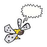 Karikaturbiene mit Spracheblase Lizenzfreies Stockbild