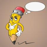Karikaturbleistift mit Gedankenblase Lizenzfreie Stockfotografie