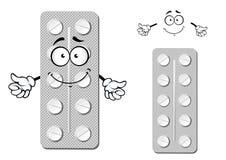 Karikaturblisterpackung Pillen Lizenzfreies Stockbild