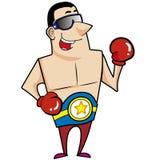 Karikatur-Boxer Lizenzfreies Stockfoto