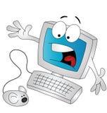 Karikaturcomputer Stockfoto