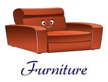 Karikaturcouch-Möbelcharakter Stockbild