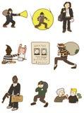 Karikaturdiebikone Lizenzfreie Stockfotos