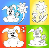Karikaturen für Farbtonbuchseiten Stockfotografie