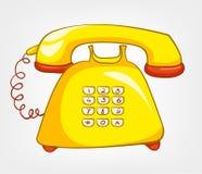 Karikaturen steuern Appliences Telefon automatisch an Stockfoto