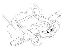 Karikaturfarbtonhubschrauber mit Gesichtern Leben Transport Stockfoto