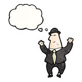 Karikaturfinanzbeamte Lizenzfreies Stockfoto