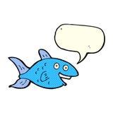 Karikaturfische mit Spracheblase Stockbild