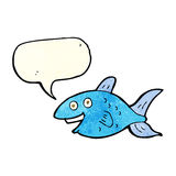 Karikaturfische mit Spracheblase Lizenzfreie Stockfotos