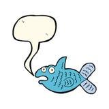 Karikaturfische mit Spracheblase Lizenzfreie Stockbilder