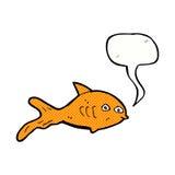 Karikaturfische mit Spracheblase Lizenzfreies Stockfoto
