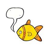 Karikaturfische mit Spracheblase Stockfoto