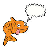 Karikaturfische mit Spracheblase Stockfotografie