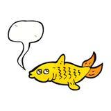 Karikaturfische mit Spracheblase Lizenzfreie Stockfotografie