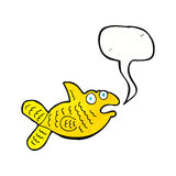 Karikaturfische mit Spracheblase Lizenzfreies Stockbild