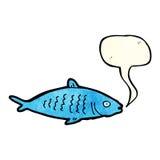 Karikaturfische mit Spracheblase Stockbilder