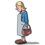 Karikaturfrauen traurig und deprimiert Lizenzfreie Stockfotos
