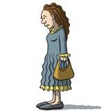 Karikaturfrauen traurig und deprimiert Stockfoto