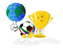 Karikaturfußballkugel der Meister lizenzfreie abbildung