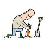 Karikaturgärtner Lizenzfreie Stockfotografie