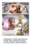 Karikaturgag über das Büroleben Lizenzfreies Stockbild