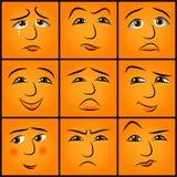 Karikaturgefühle eingestellt Stockfoto