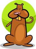 Karikaturgekritzel des netten Hamsters Stockfotos
