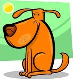 Karikaturgekritzel des netten Hundes Stockfotografie