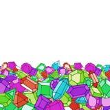 Karikaturgekritzeledelstein-Vektorhintergrund Stockfotografie