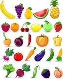 Karikaturgemüse und -früchte Stockfotografie