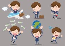 Karikaturgeschäftscharaktere - Dienstreise Lizenzfreies Stockfoto