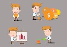 Karikaturgeschäftscharaktere - Finanzierung Lizenzfreie Stockfotos