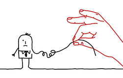 Karikaturgeschäftsmann - dekonstruieren Sie lizenzfreie abbildung