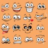 Karikaturgesichter eingestellt Lizenzfreie Stockbilder