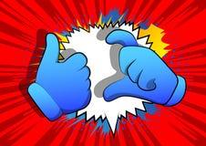 Karikaturhände, die Freundzonensymbol machen vektor abbildung