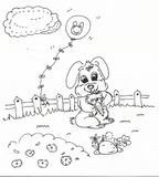 Karikaturhäschen, das Karotte hält Stockbilder