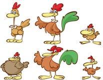 Karikaturhühner Stockfotos