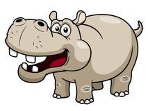 KarikaturHippopotamus Stockfoto