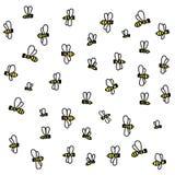 Karikaturhonigbienen Lizenzfreie Abbildung