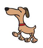 Karikaturhund stockbilder