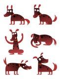 Karikaturhund Stockbild