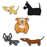 Karikaturhunde Stock Abbildung