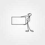 Karikaturikonen stellten von der Skizzenstockzahl in den netten Miniaturszenen ein lizenzfreie abbildung