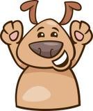 Karikaturillustration der Stimmung glückliche Hunde stock abbildung
