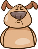 Karikaturillustration der Stimmung stolze Hunde lizenzfreie abbildung