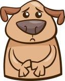 Karikaturillustration der Stimmung traurige Hunde lizenzfreie abbildung
